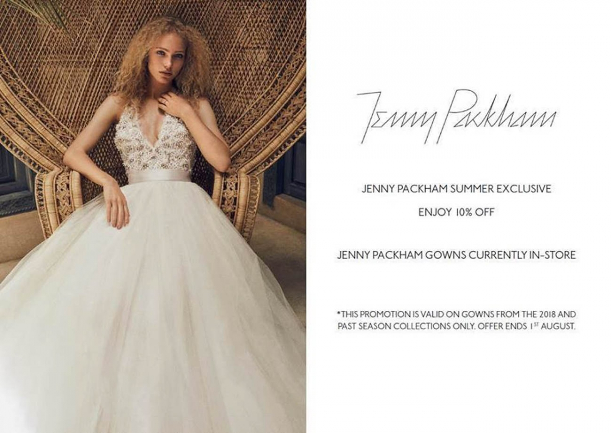 Get 10% off Jenny Packham gowns for the whole of July at The Bridal ...