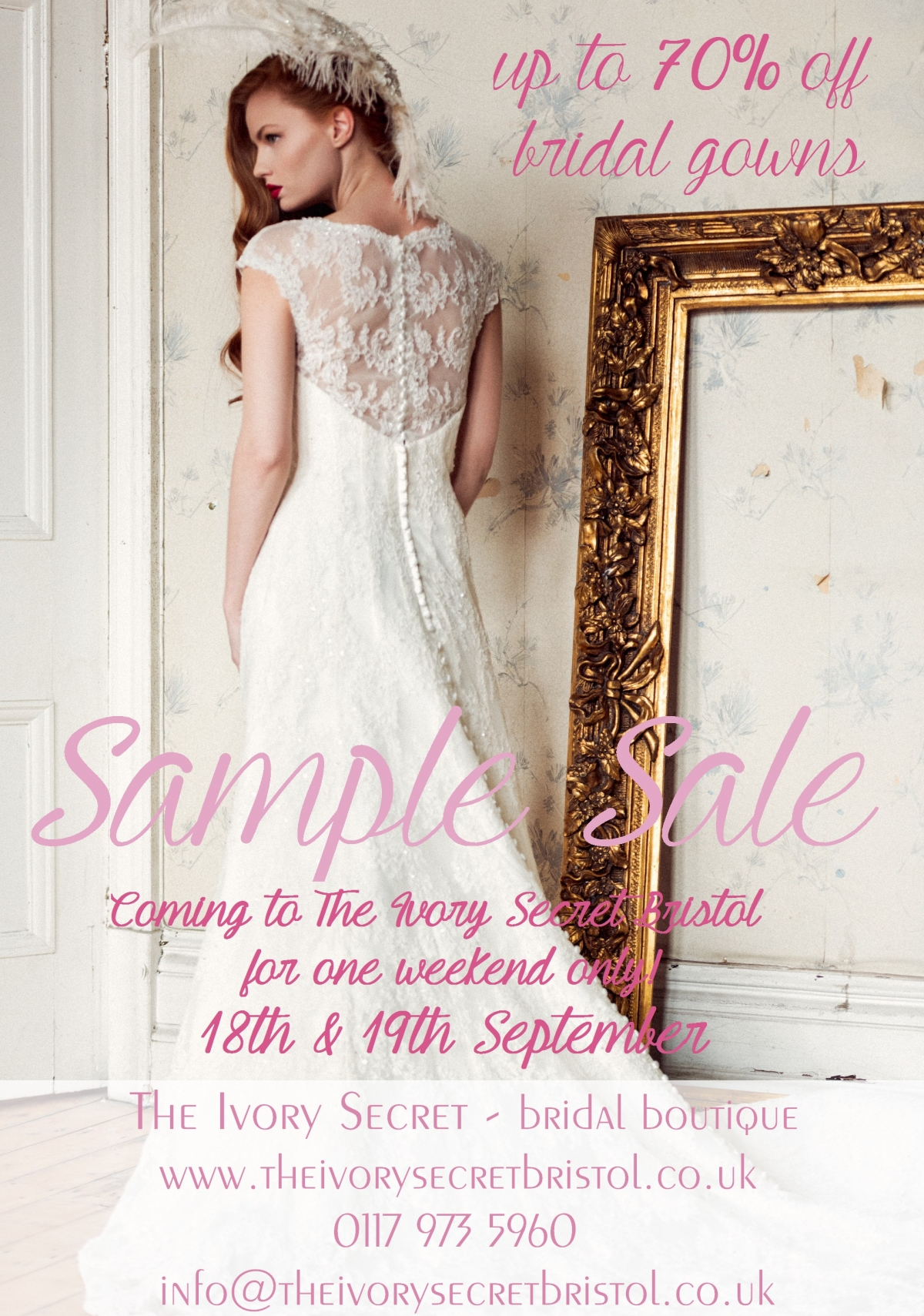 Sample sale at The Ivory Secret in Bristol