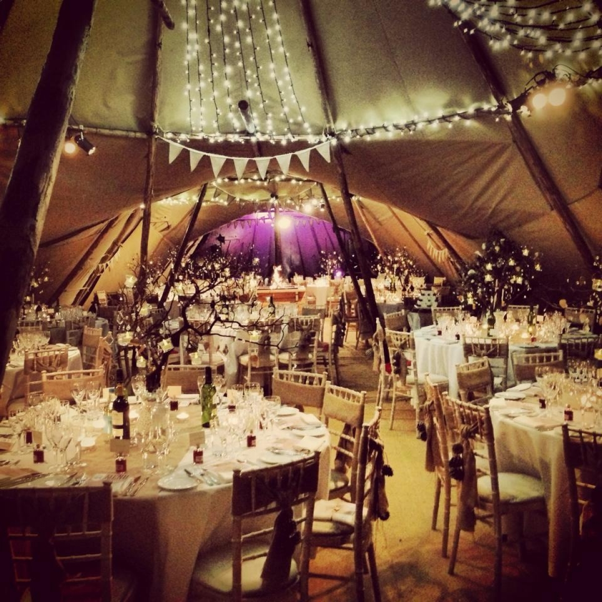 & Winter tipi weddings with World Inspired Tents