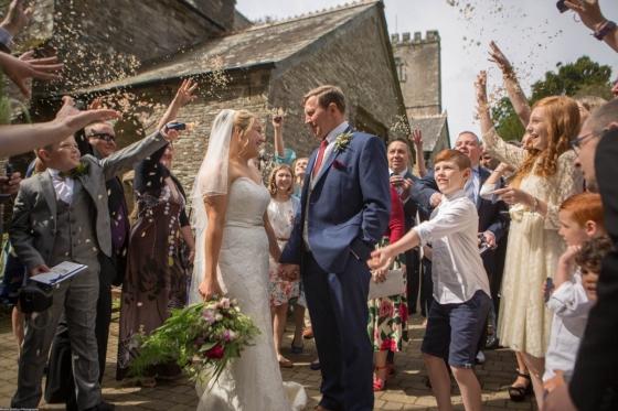 Real Wedding At Lusty Glaze, Cornwall