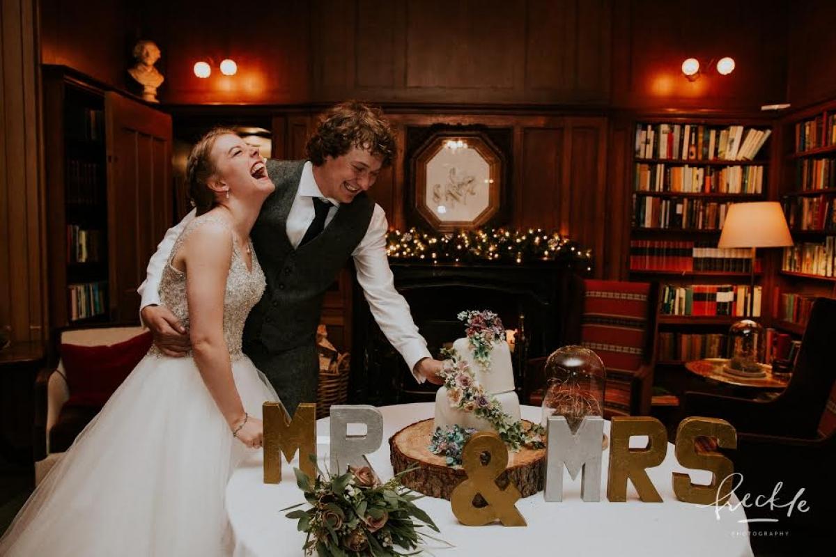 Festive hotel wedding