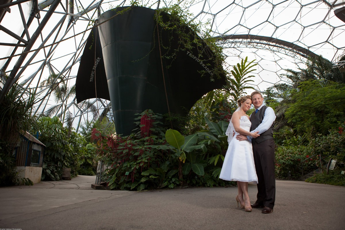 Real Wedding At The Eden Project, Cornwall