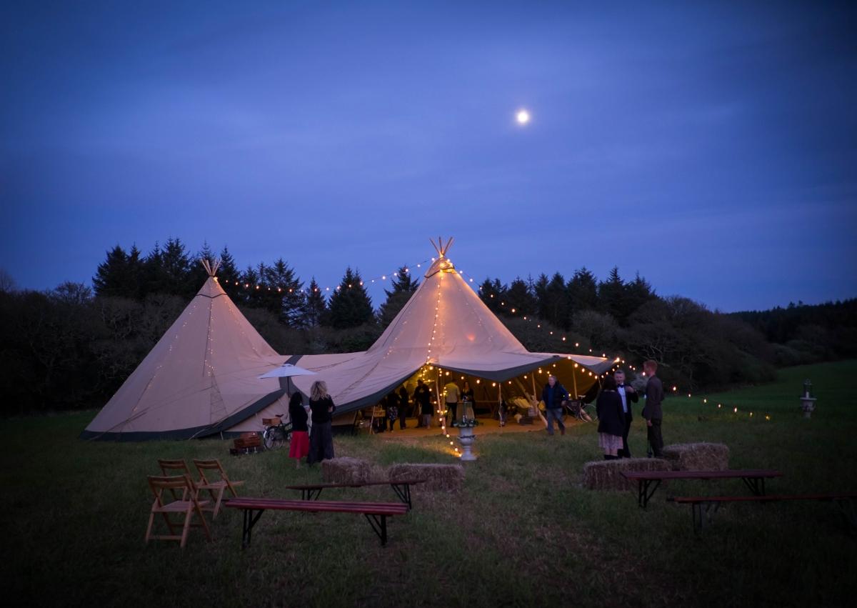Tipi Weddings Cornwall Devon