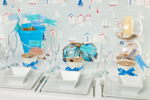 Wedding decor diy brides seaside delights bring the seashore to your tabletops with simple but effective dcor a striking table centre and menu in a bottle oozes a laidback junglespirit Images
