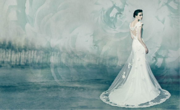 Naked modern wedding gowns