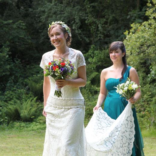 Real Wedding At Cornish Tipi Weddings, St Kew