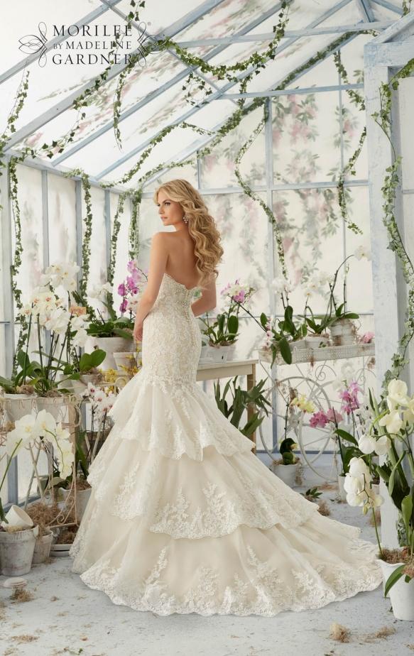 Wedding dresses floral design bridesmaid dresses for Largest selection of wedding dresses