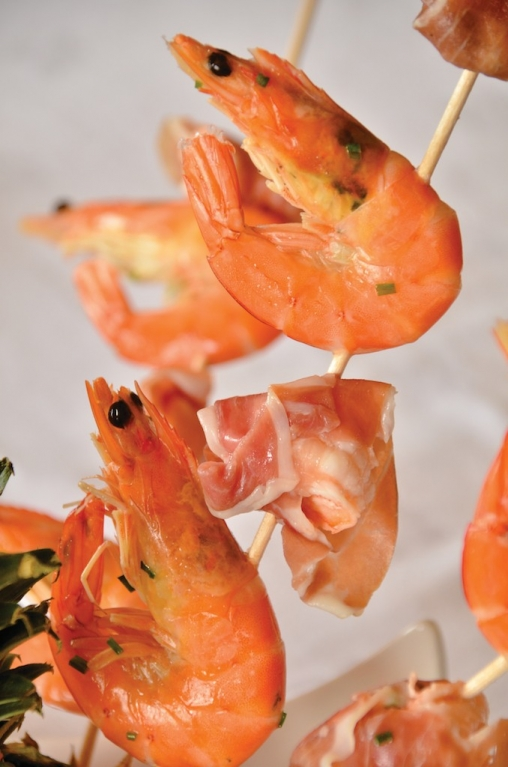 Tiger Prawns, Chorizo And Cheddar Recipe — Dishmaps