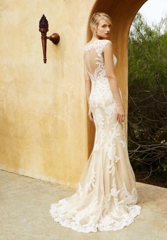 Nude wedding dresses beautiful by enzoani lavender rose junglespirit Gallery