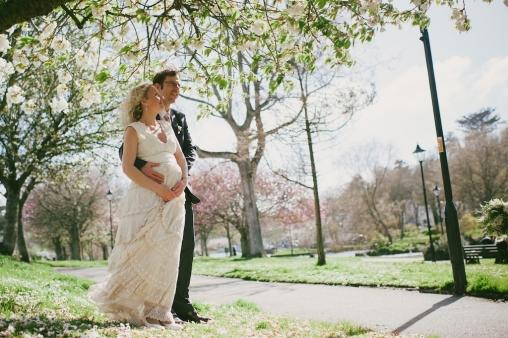 real wedding at lusty glaze cornwall
